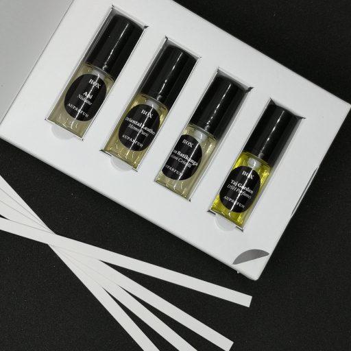 box de parfums de niche et touches parfumées